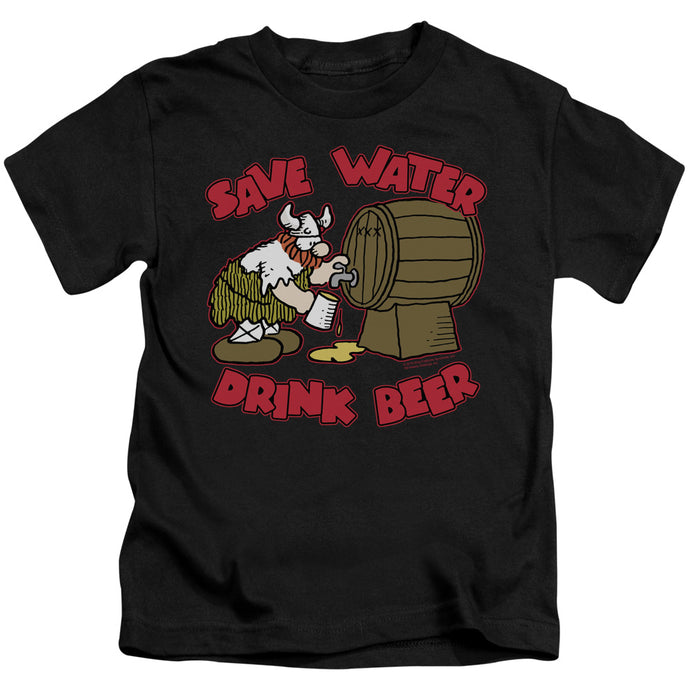 Hagar The Horrible - Save Water Drink Beer Short Sleeve Juvenile 18/1 Tee - Special Holiday Gift