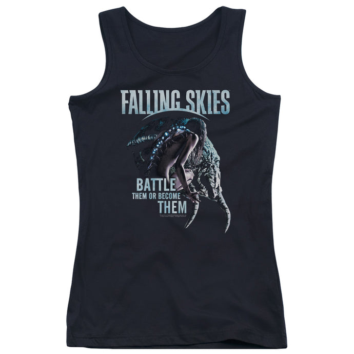 Falling Skies - Battle Or Become Juniors Tank Top - Special Holiday Gift