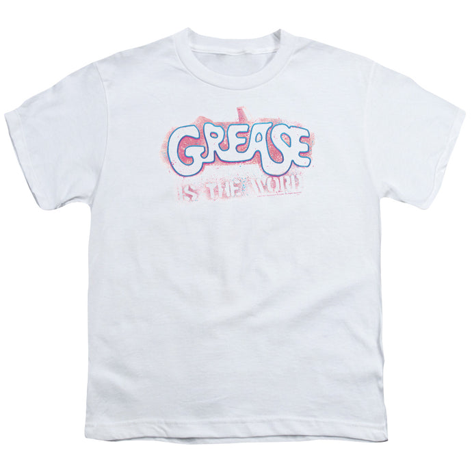 Grease - Grease Is The Word Short Sleeve Youth 18/1 Tee - Special Holiday Gift
