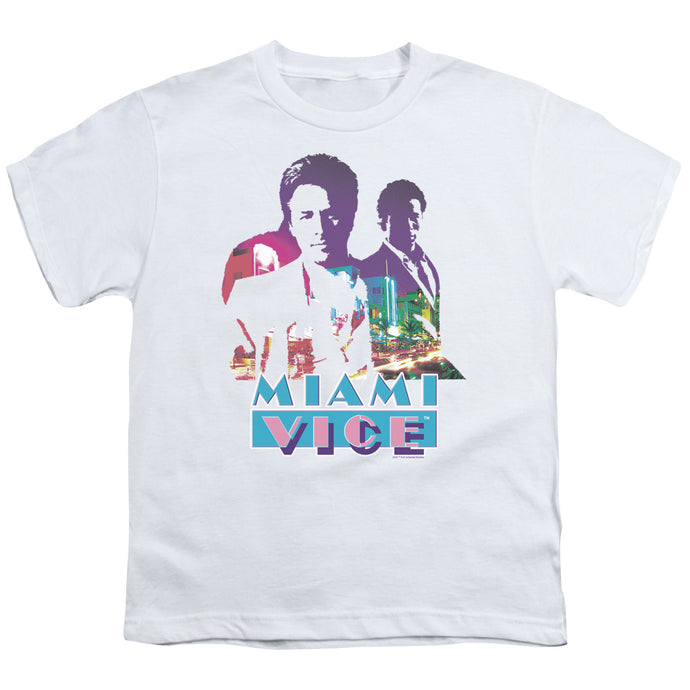 Miami Vice - Crockett And Tubbs Short Sleeve Youth 18/1 Tee - Special Holiday Gift