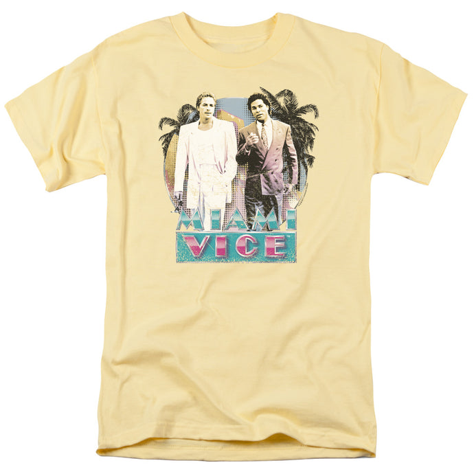 Miami Vice - 80 S Love Short Sleeve Adult 18/1 Tee - Special Holiday Gift