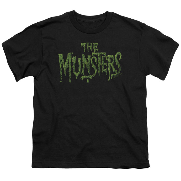 The Munsters - Distress Logo Short Sleeve Youth 18/1 Tee - Special Holiday Gift