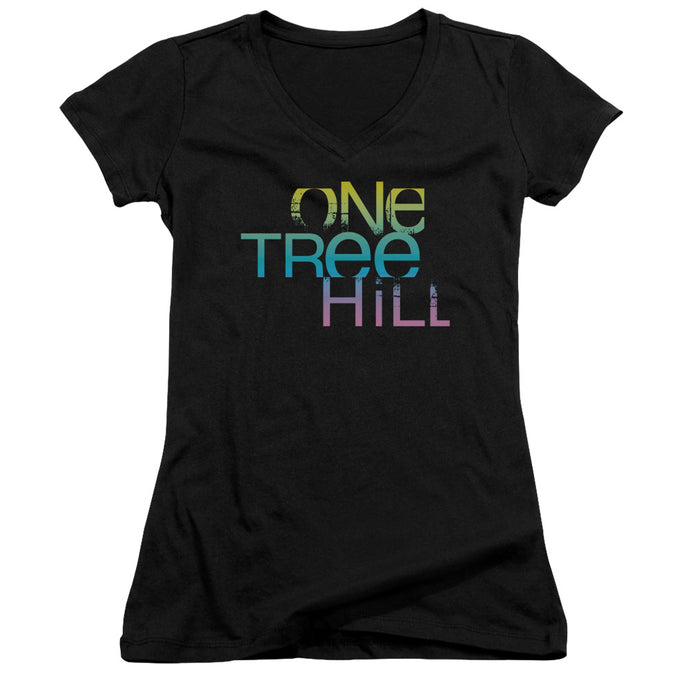 One Tree Hill - Color Blend Logo Junior V Neck Tee - Special Holiday Gift