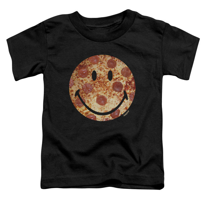 Smiley World - Pizza Face Short Sleeve Toddler Tee - Special Holiday Gift