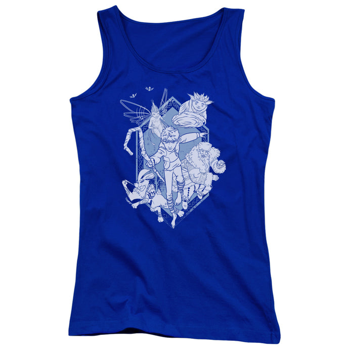 Rise Of The Guardians - Coming For You Juniors Tank Top - Special Holiday Gift