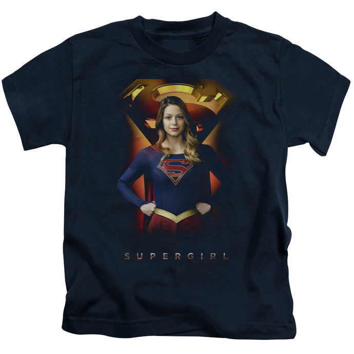 Supergirl - Standing Symbol Short Sleeve Juvenile 18/1 Tee - Special Holiday Gift