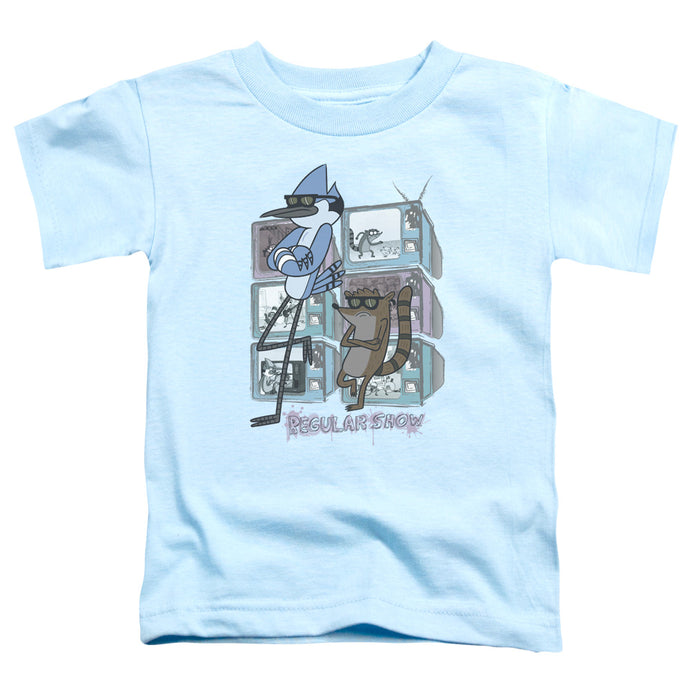 Regular Show - Tv Too Cool Short Sleeve Toddler Tee - Special Holiday Gift