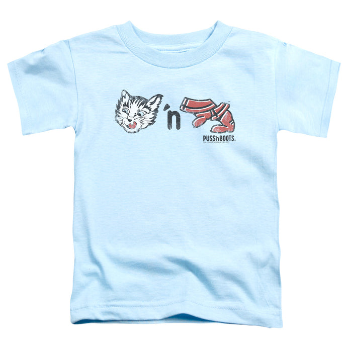 Puss N Boots - Rebus Logo Short Sleeve Toddler Tee - Special Holiday Gift