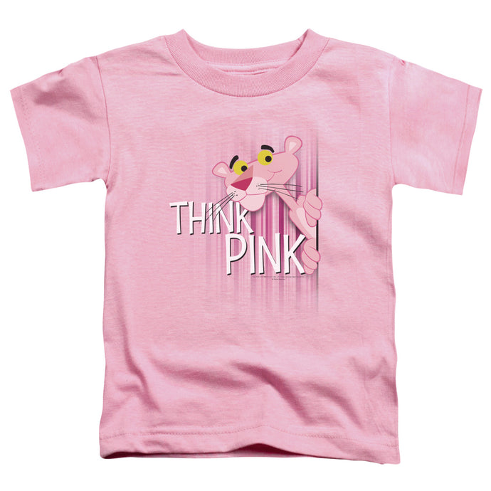 Pink Panther - Think Pink Short Sleeve Toddler Tee - Special Holiday Gift