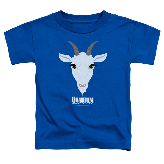 Quantum And Woody - Goat Head Short Sleeve Toddler Tee - Special Holiday Gift