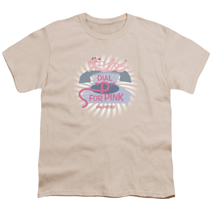 Pink Panther - Dial P For Pink Short Sleeve Youth 18/1 Tee - Special Holiday Gift