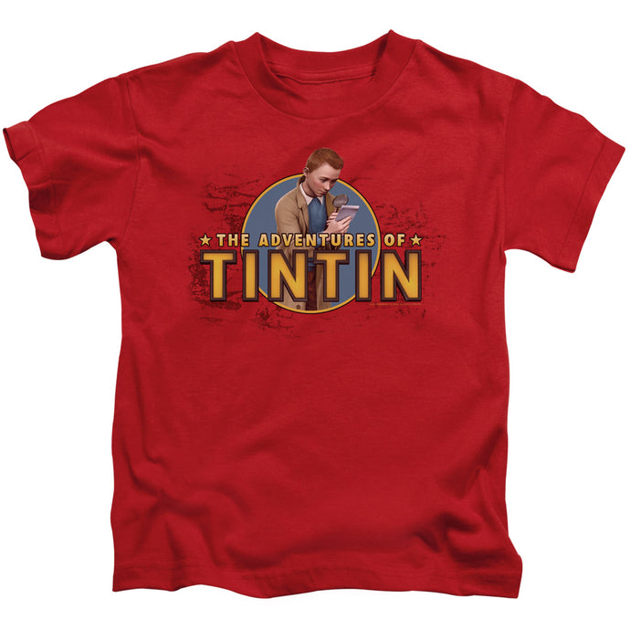 Tintin - Looking For Clues Short Sleeve Juvenile 18/1 Tee - Special Holiday Gift
