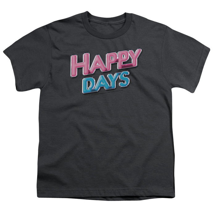 Happy Days - Happy Days Logo Short Sleeve Youth 18/1 Tee - Special Holiday Gift
