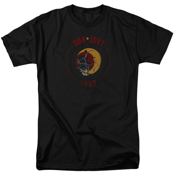 Bon Jovi - 1987 Short Sleeve Adult 18/1 Tee - Special Holiday Gift