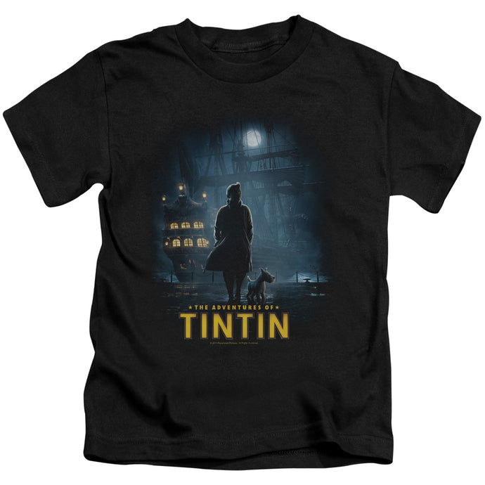 Tintin - Title Poster Short Sleeve Juvenile 18/1 Tee - Special Holiday Gift