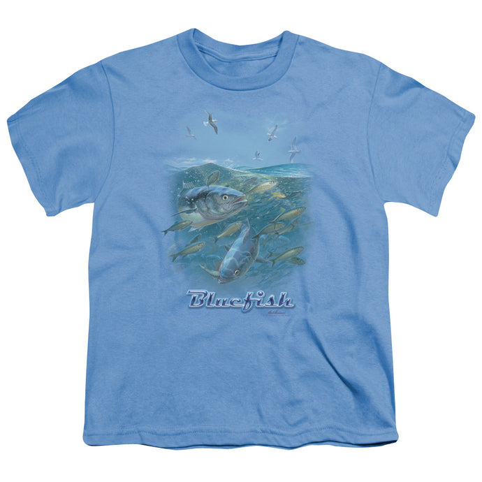 Wildlife - Blue Mayhem Short Sleeve Youth 18/1 Tee - Special Holiday Gift