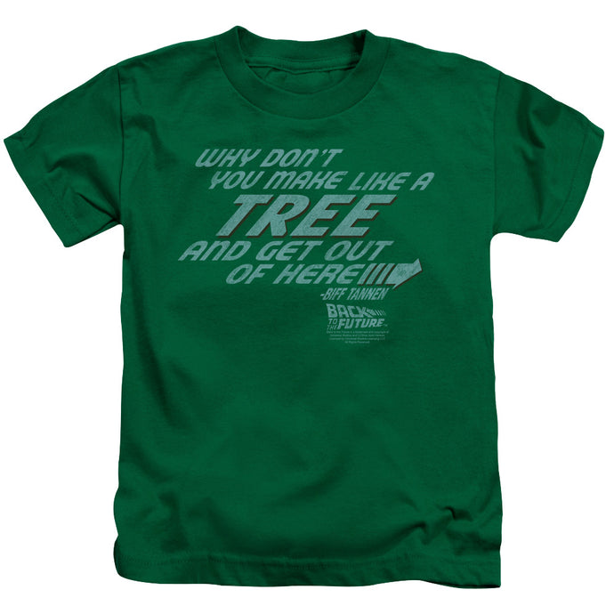 Back To The Future - Make Like A Tree Short Sleeve Juvenile 18/1 Tee - Special Holiday Gift
