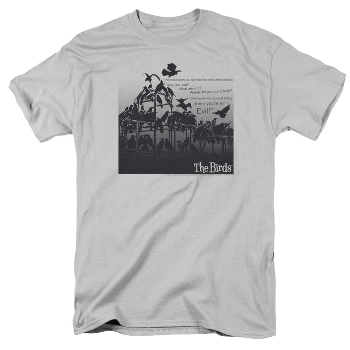 Birds - Evil Short Sleeve Adult 18/1 Tee - Special Holiday Gift