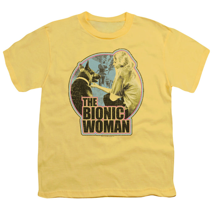 Bionic Woman - Jamie And Max Short Sleeve Youth 18/1 Tee - Special Holiday Gift