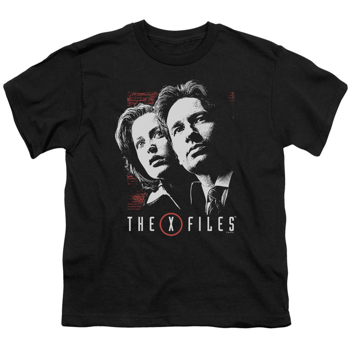 X Files - Mulder & Scully Short Sleeve Youth 18/1 Tee - Special Holiday Gift