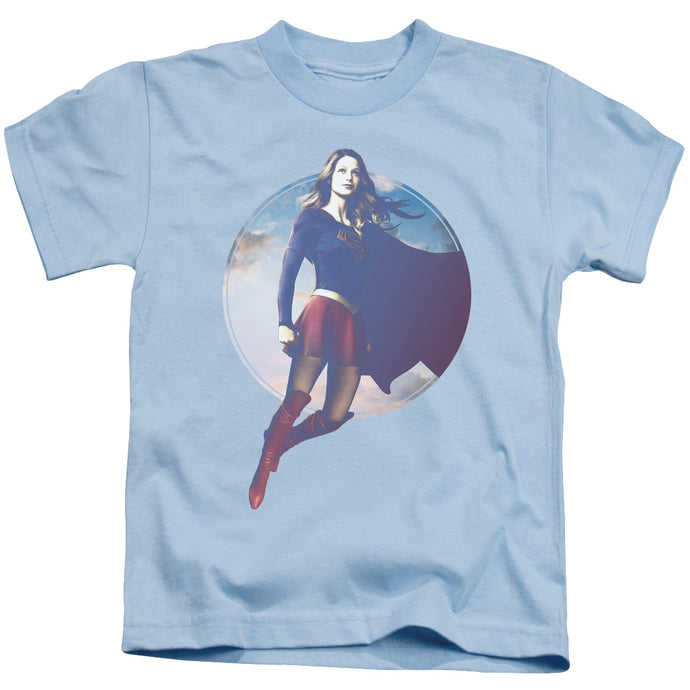 Supergirl - Cloudy Circle Short Sleeve Juvenile 18/1 Tee - Special Holiday Gift