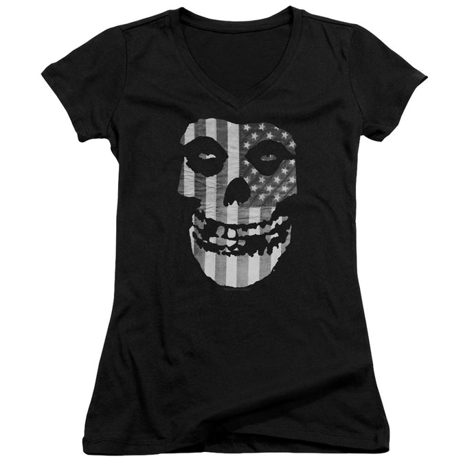 Misfits - Fiend Flag Junior V Neck Tee - Special Holiday Gift
