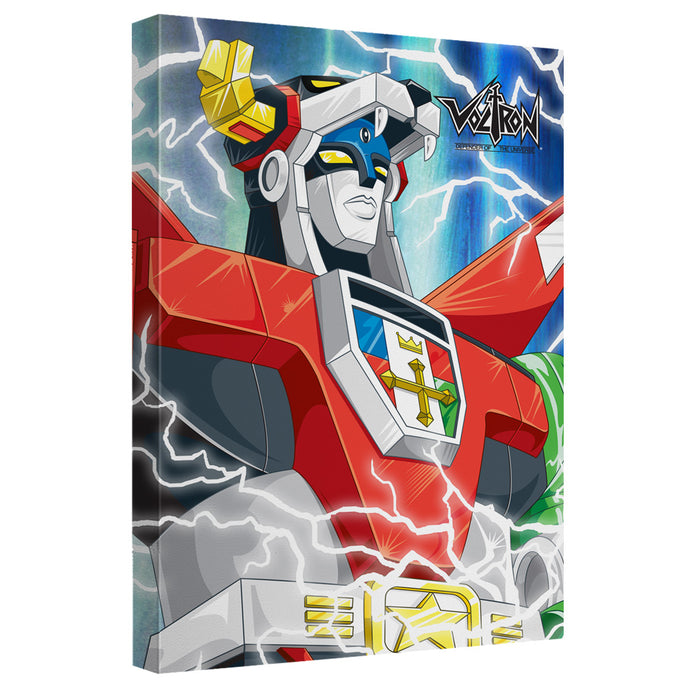 Voltron - Lightning Combine Canvas Wall Art With Back Board - Special Holiday Gift