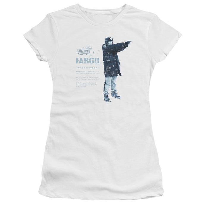 Fargo - This Is A True Story Short Sleeve Junior Sheer - Special Holiday Gift