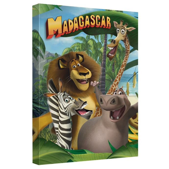Madagascar - Jungle Time Canvas Wall Art With Back Board - Special Holiday Gift