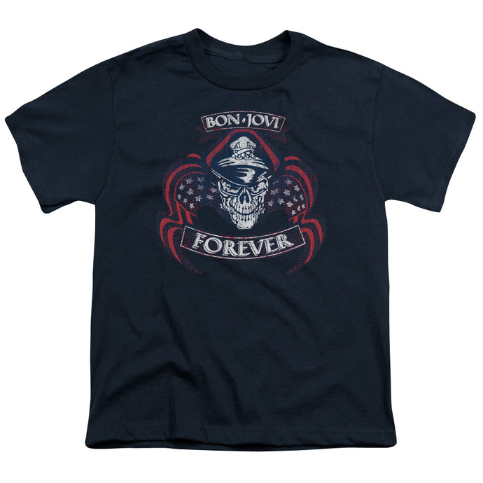 Bon Jovi - Forever Skull Short Sleeve Youth 18/1 Tee - Special Holiday Gift