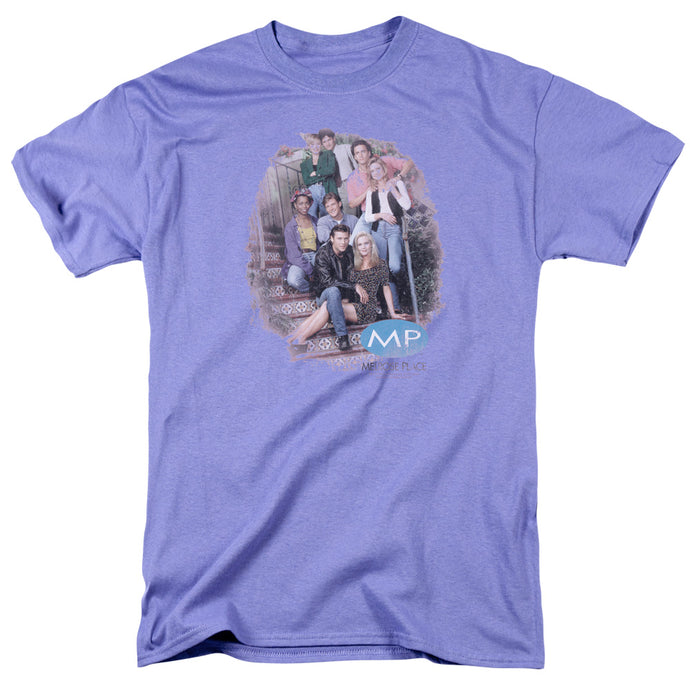 Melrose Place - Orig.Cast Distressed Short Sleeve Adult 18/1 Tee - Special Holiday Gift