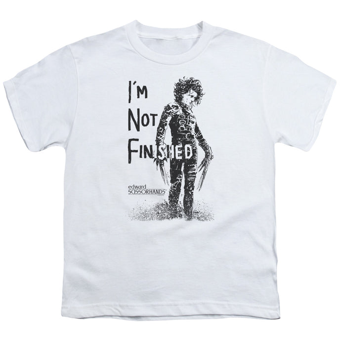 Edward Scissorhands - Not Finished Short Sleeve Youth 18/1 Tee - Special Holiday Gift