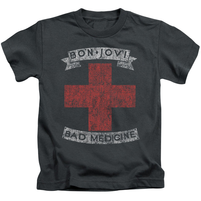Bon Jovi - Bad Medicine Short Sleeve Juvenile 18/1 Tee - Special Holiday Gift