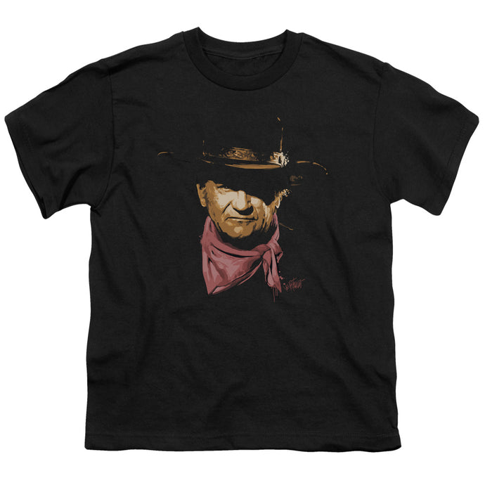 John Wayne - Splatter Short Sleeve Youth 18/1 Tee - Special Holiday Gift