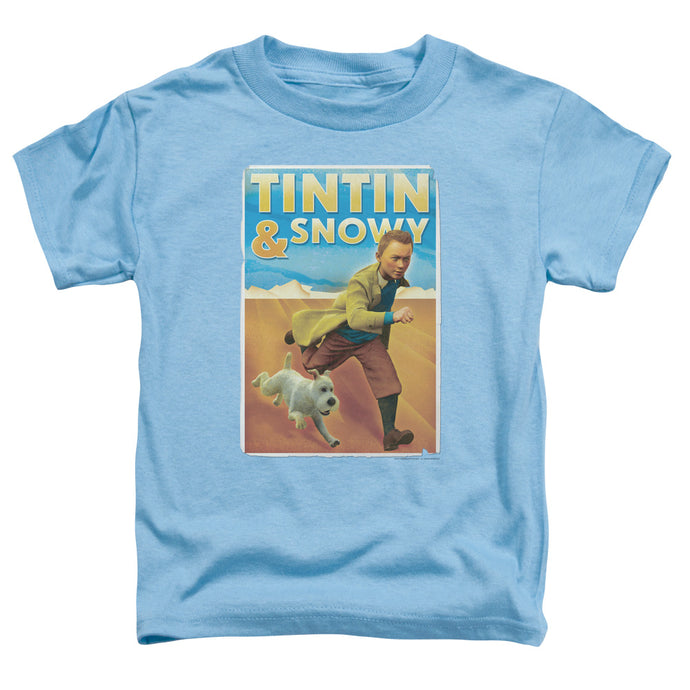 Tintin - Tintin & Snowy Short Sleeve Toddler Tee - Special Holiday Gift