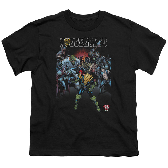 Judge Dredd - Behind You Short Sleeve Youth 18/1 Tee - Special Holiday Gift