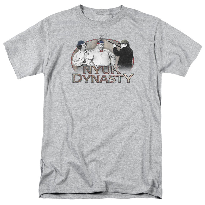 Three Stooges - Nyuk Dynasty Short Sleeve Adult 18/1 Tee - Special Holiday Gift