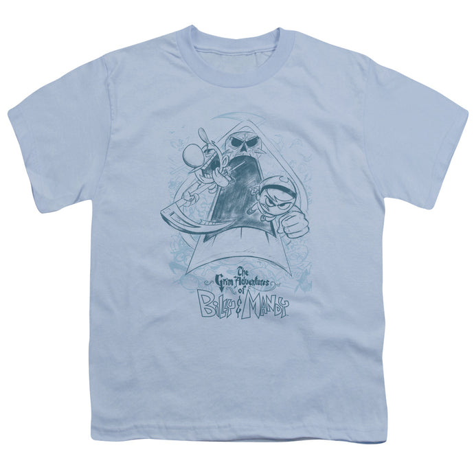 Grim Adventures Of Billy & Mandy - Sketched Short Sleeve Youth 18/1 Tee - Special Holiday Gift