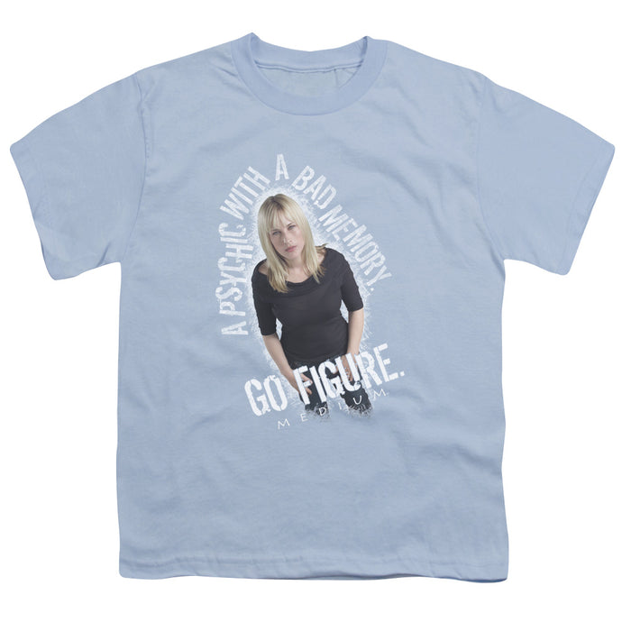 Medium - Go Figure Short Sleeve Youth 18/1 Tee - Special Holiday Gift