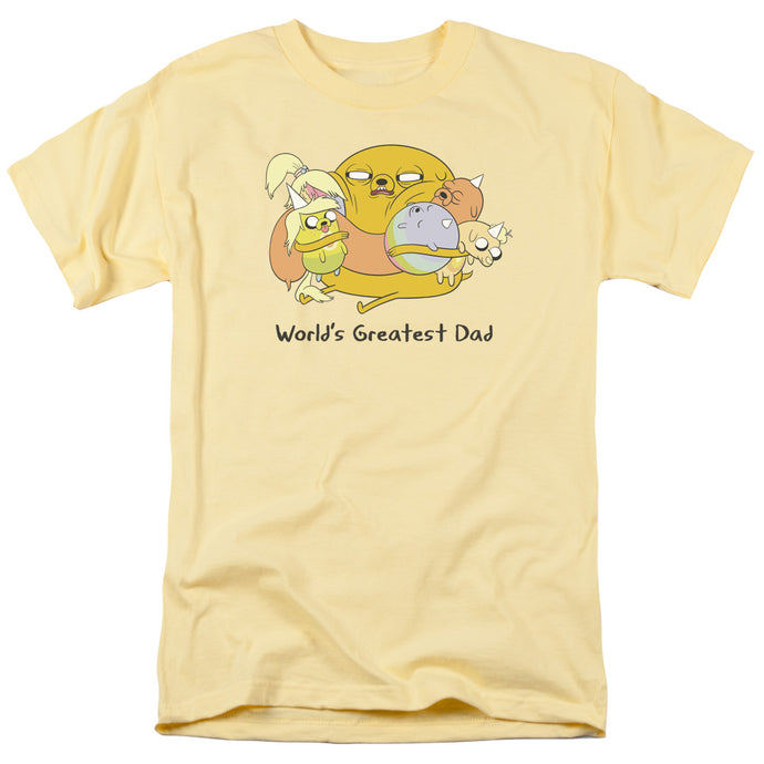 Adventure Time - Worlds Greatest Dad Short Sleeve Adult 18/1 Tee - Special Holiday Gift