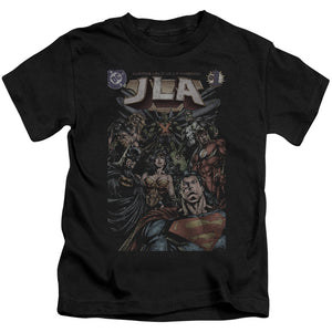 Jla - #1 Cover Short Sleeve Juvenile 18/1 Tee - Special Holiday Gift