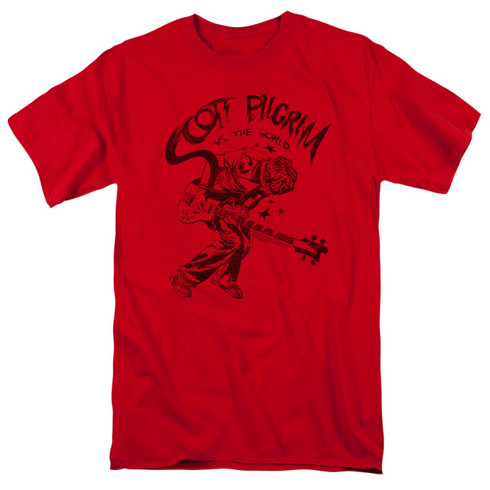 Scott Pilgrim - Rockin Short Sleeve Adult 18/1 Tee - Special Holiday Gift