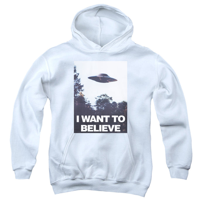 X Files - Believe Poster Youth Pull Over Hoodie - Special Holiday Gift