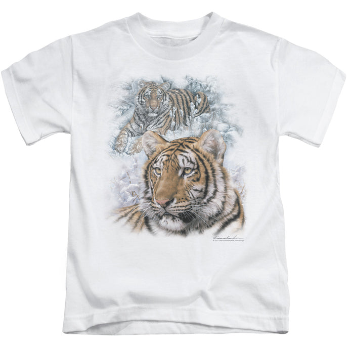 Wildlife - Tigers Short Sleeve Juvenile 18/1 Tee - Special Holiday Gift