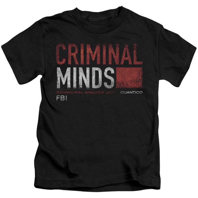 Criminal Minds - Title Card Short Sleeve Juvenile 18/1 Tee - Special Holiday Gift