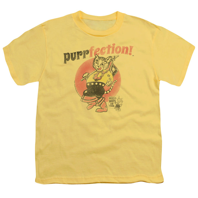 Puss N Boots - Purrfection Short Sleeve Youth 18/1 Tee - Special Holiday Gift