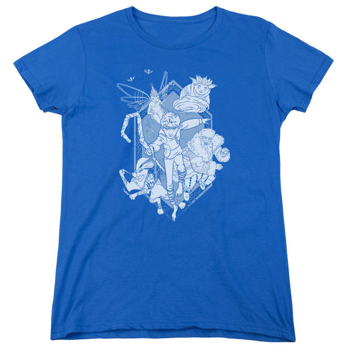 Rise Of The Guardians - Coming For You Short Sleeve Women's Tee - Special Holiday Gift
