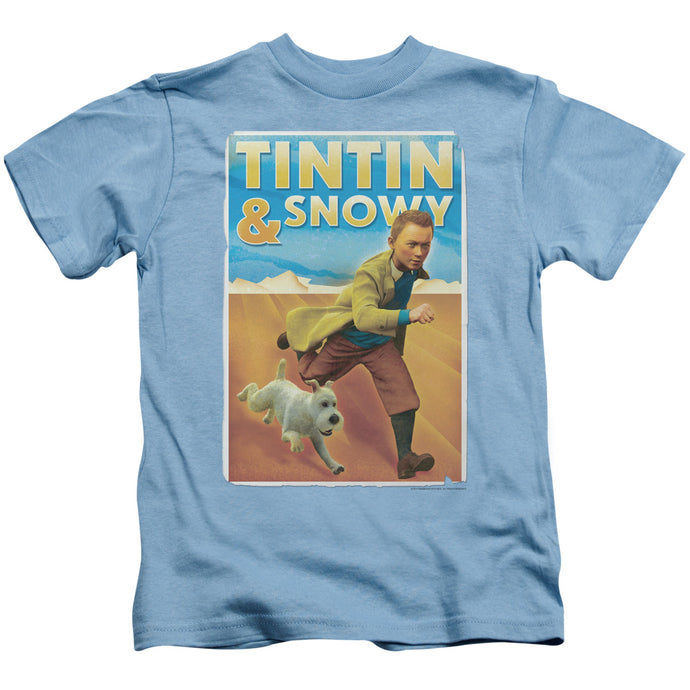 Tintin - Tintin & Snowy Short Sleeve Juvenile 18/1 Tee - Special Holiday Gift