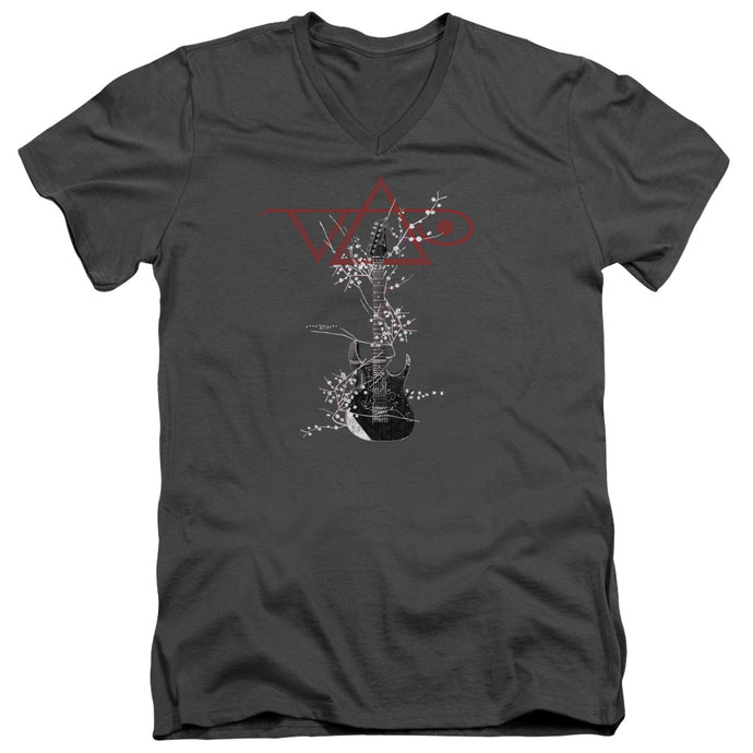 Steve Vai - Vai Axe Short Sleeve Adult V Neck Tee - Special Holiday Gift