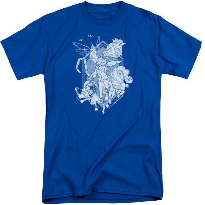 Rise Of The Guardians - Coming For You Short Sleeve Adult Tall Tee - Special Holiday Gift